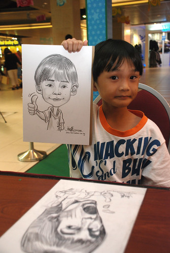 Caricature live sketching for Marina Square 4