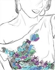Prueba PenSketch#1 (. J •) Tags: flores verde blanco lines azul photoshop hojas arboles negro lapiz punta layers labios wacom joss pelo nariz lineas camisa ramas cuello rosado hombro teamo josy joselyn matas presión pensketch zarcillos pentable vurvas joselyncristinaamaronava