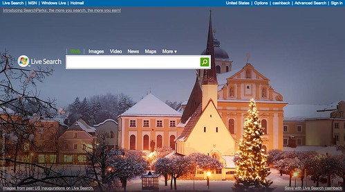 Live Search Holiday theme