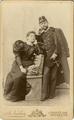 Married Couple (josefnovak33) Tags: old vintage de official pair cdv visite carte wedded photoraph prostjov