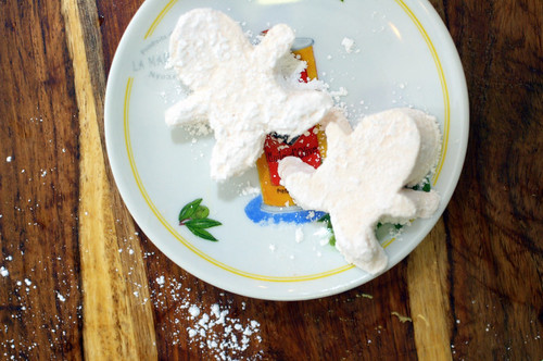 spicy marshmallows in their role as gingerbread men