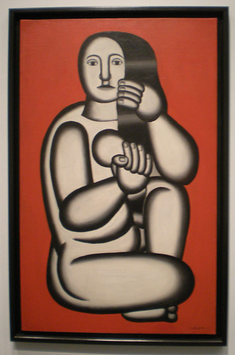 Fernand Leger, Nude on a Red Background