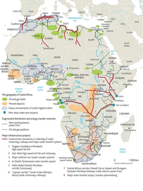 Africa energy map