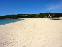 Pause-déjeuner et baignade à la plage d'Arone