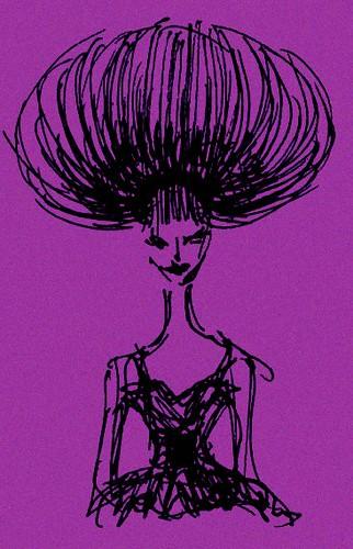 頭の大きい婦人補正