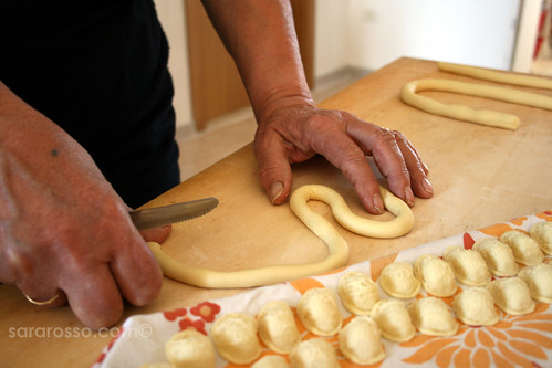 Making Orecchiette - Little Ears pasta - those hands