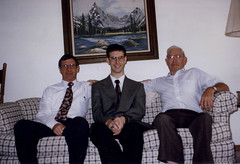 1997 Dad, Charlie and Gramps (inabeanpod) Tags: 1996 justme