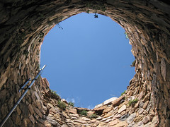 Up a hole! (ScallyW) Tags: blue sky up stone perspective hold tossa supershot