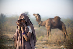 Morning dew. (Swiatoslaw Wojtkowiak) Tags: woman india canon asia market indian fair camel 5d nomad indien rajasthan inde mela  3932 5photosaday    beneshwar