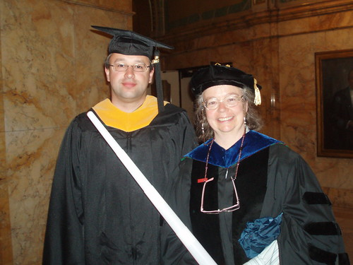 Myself with Bonnie John, Director of our HCI Master's Program