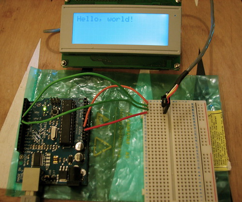 Arduino + Matrix Orbital LCD display