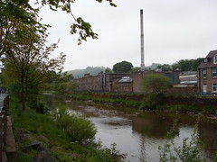 Glebe Mills - Pringle of Scotland (cessna152towser) Tags: chimney mill factory workplace textiles hawick rnbteviot