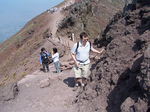 On Top of the Vesuvius, Italy