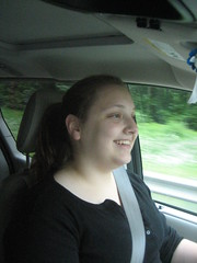 Heathie driving!