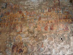 Interesting fresco in some church (steven_and_haley_bach) Tags: fresco byzantine mystras sixthday mistras greecevacation byzantineruins