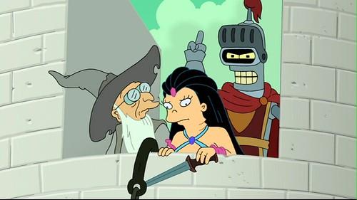 Futurama Juego de Bender Amy en castillo