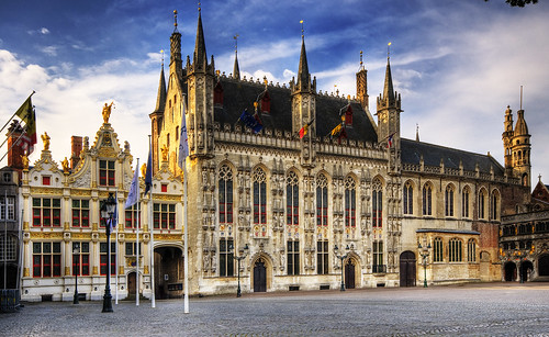 フリー画像| 人工風景| 建造物/建築物| 市庁舎| 世界遺産/ユネスコ| ベルギー風景| ブルッヘ/ブリュッヘ|     フリー素材|