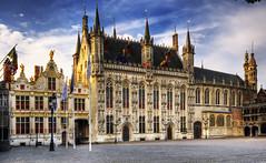 [フリー画像] [人工風景] [建造物/建築物] [市庁舎] [世界遺産/ユネスコ] [ベルギー風景] [ブルッヘ/ブリュッヘ]     [フリー素材]