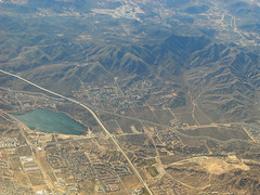 Above Lake Palmdale, Highway 14, and the San Andreas fault (cocoi_m) Tags: california sanandreasfault fault antelopevalley palmdale sanandreas mojavedesert sangabrielmountains losangelescounty highway14 lakepalmdale