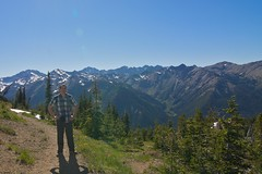 Brian at top of Marmot Pass, elev. 6000 Photo
