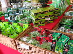 Mitsuwa Marketplace: Matcha confectionary fair display