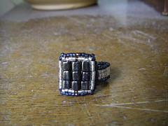 kockás gyűrű