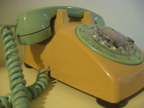 Awesome Two-toned rotary phone by jerkytourniquet.
