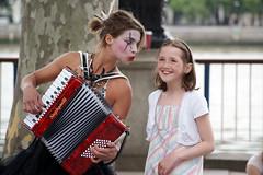 UK   LONDON   JULY 2008 (Ashour talk) Tags: street uk boy summer people money london eye girl lady hair fun happy kiss funny united small july kingdom dancer pay 2008 collect tatto gance paid