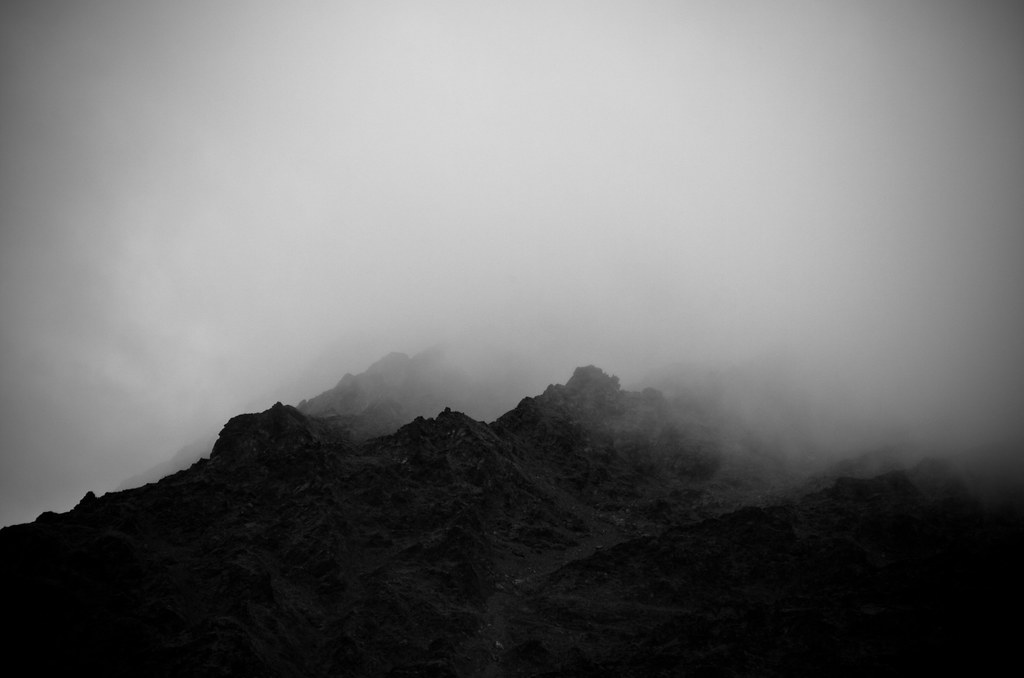 Very Misty Mountain Top