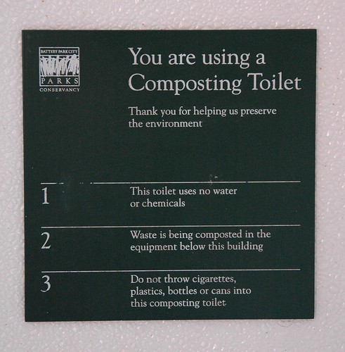 You are using a composting toilet