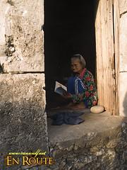 Lola Ida reads her Reader's Digest edition