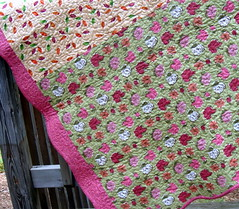 fall lap quilt backside