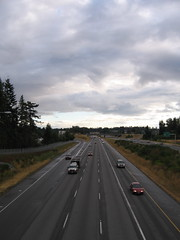 I-5 from the new pedestrian overpass