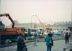 construction before the louvre (dacran) Tags: paris france film construction europe louvre 1993 scannedprint