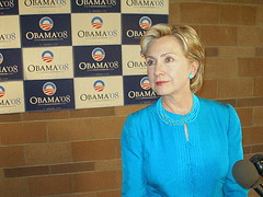 Hillary in Espanola last week