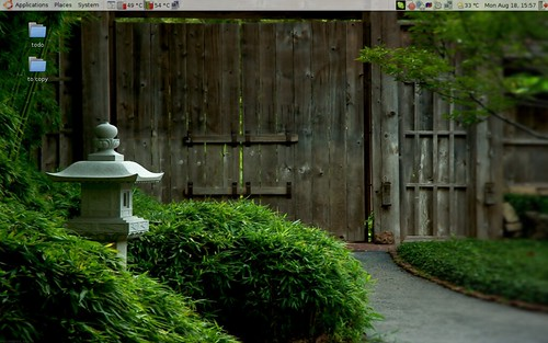 Current desktop (2008/08/18)