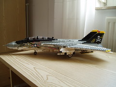 F-14A (Mad physicist) Tags: model fighter lego f14 aircraft usnavy jollyroger tomcat grumman f14a