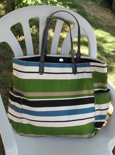 New Striped Bag