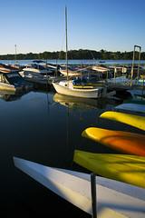 reeds lake. (kvdl) Tags: summer lake reflection boats michigan grandrapids eastgrandrapids reedslake kvdl