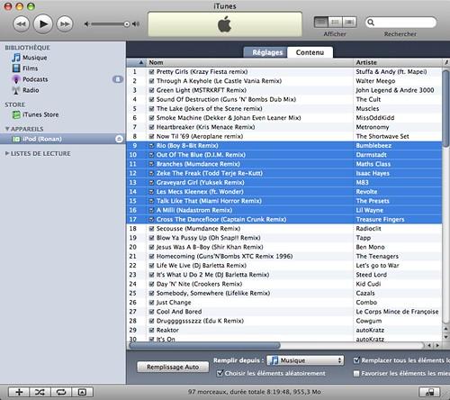 Ronan's iPod shuffle 1GB Summer 08 Hits II
