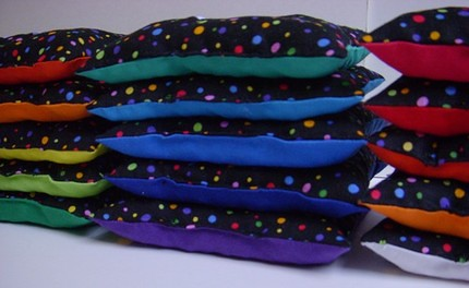 Count and Spell Color Recognition Beanbags Stacked - BEAUTIFUL!
