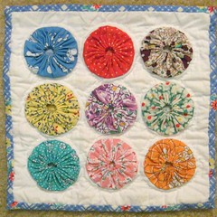 Mini Quilt - Aug. Handwork Theme (WendysKnitch) Tags: yoyos miniquilt