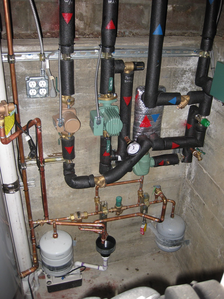 Radiant system plumbing