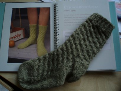 one uptown boot sock