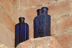 Not to be taken ! (DJLDorset) Tags: bottle antique medicine blueglass bluebottle glassbottle lulworthcastle nottobetaken davidlongshaw
