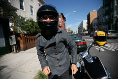 phillipdance (sgoralnick) Tags: brooklyn dancing helmet motorcycle phillip greenpoint phillipckim