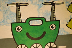 green creature with wheels (julochka) Tags: green singapore creatureart