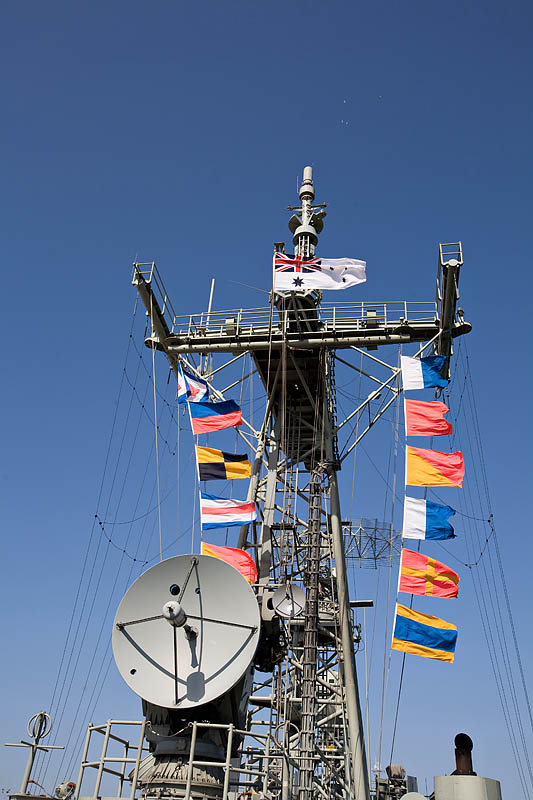Naval Signal flags on the Melbourne