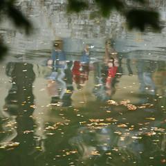 3 leute (piktorio) Tags: street autumn reflection berlin water kreuzberg canal cityscape offshore kanal channel