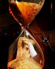 Tired of waiting (  T_ !  ) Tags: man clock girl cat design sand waiting sad creative tired kuwait sorrow q8